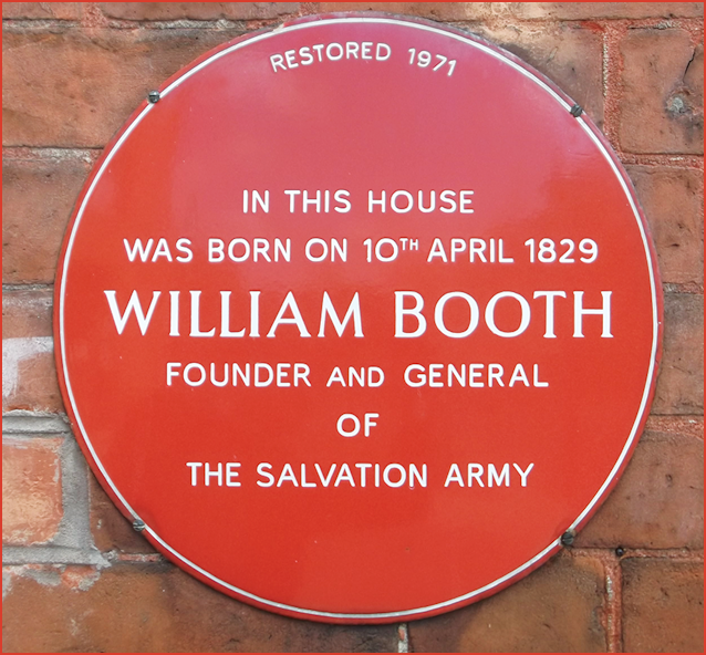 William Booth Red Plaqie