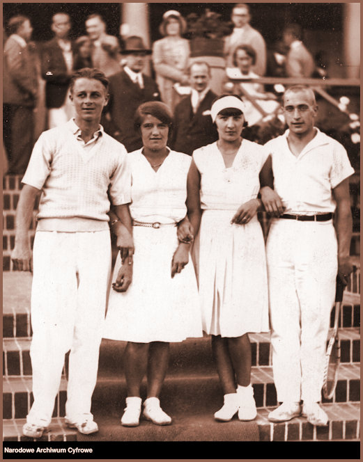 JJ and Polish Players at the National Polish Tennis Championships 1930