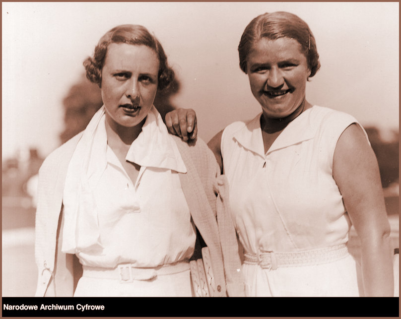 JJ Wimbledon 1935 with doubles partner Susan Noel