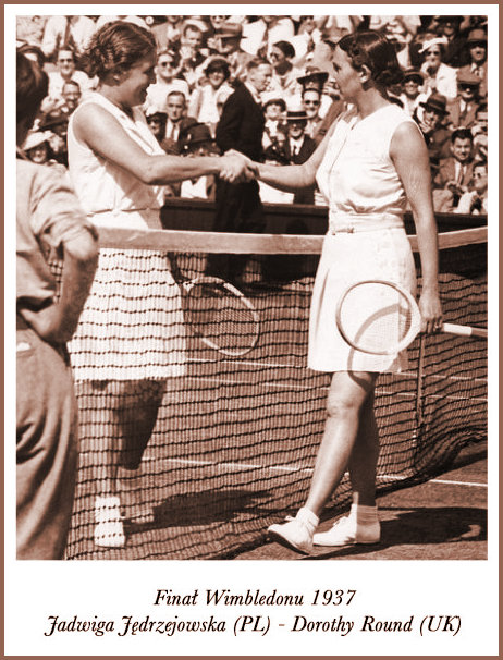 JJ and Dorothy Round at the net 1937