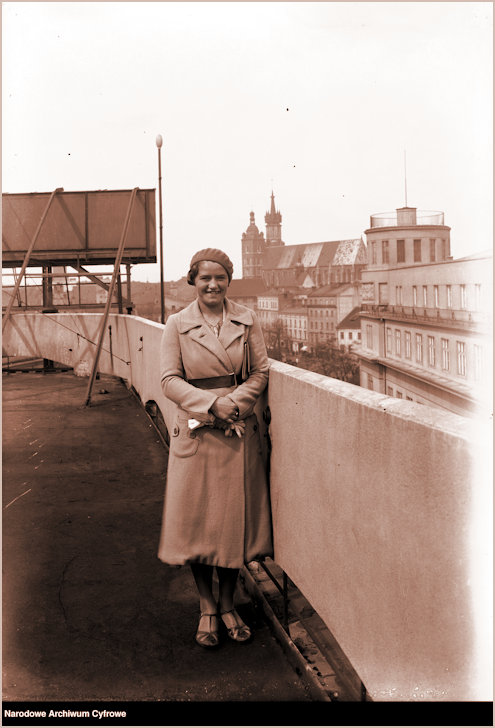 JJ on roof of Press Palace in Krakow in 1932