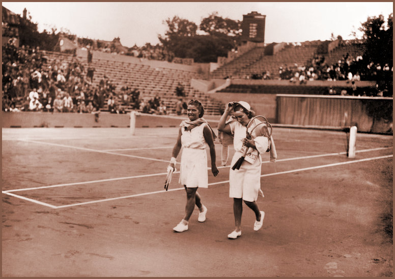 JJ and Dorothy Round leave the court after the 1937 Wimbledon Ladirs Final