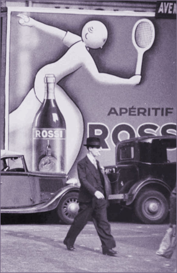 Aperitif Rossi and Tennis Player 1936