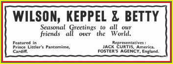 New Year wishes from Wilson, Kepple and Betty on January 1936