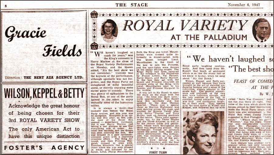 1947 The Stage Royal Variety Performance