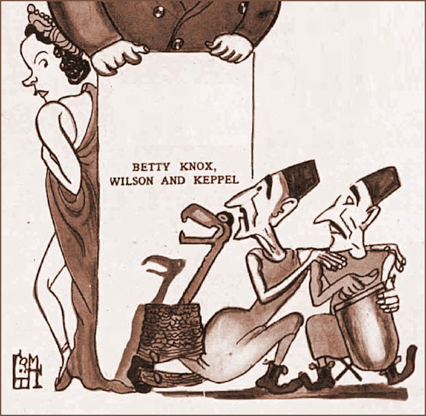 WKB featured as a cartoon in the 1937 edition of The Tatler