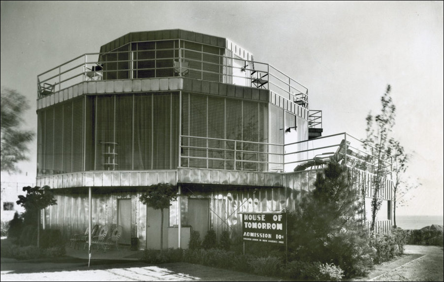 Exterior of the 1933 Chicago World's Fair House of Tomorrow