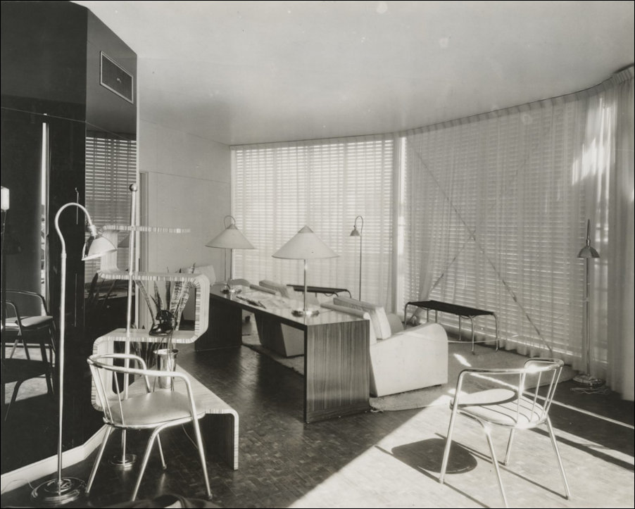 Interior of the 1933 Chicago World's Fair House of Tomorrow