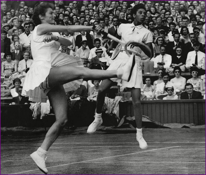 Angela Buxton and Althea Gibson Doubles Partnership 1956