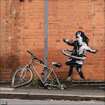Banksy Hoola-Hoop Girl for Nottingham