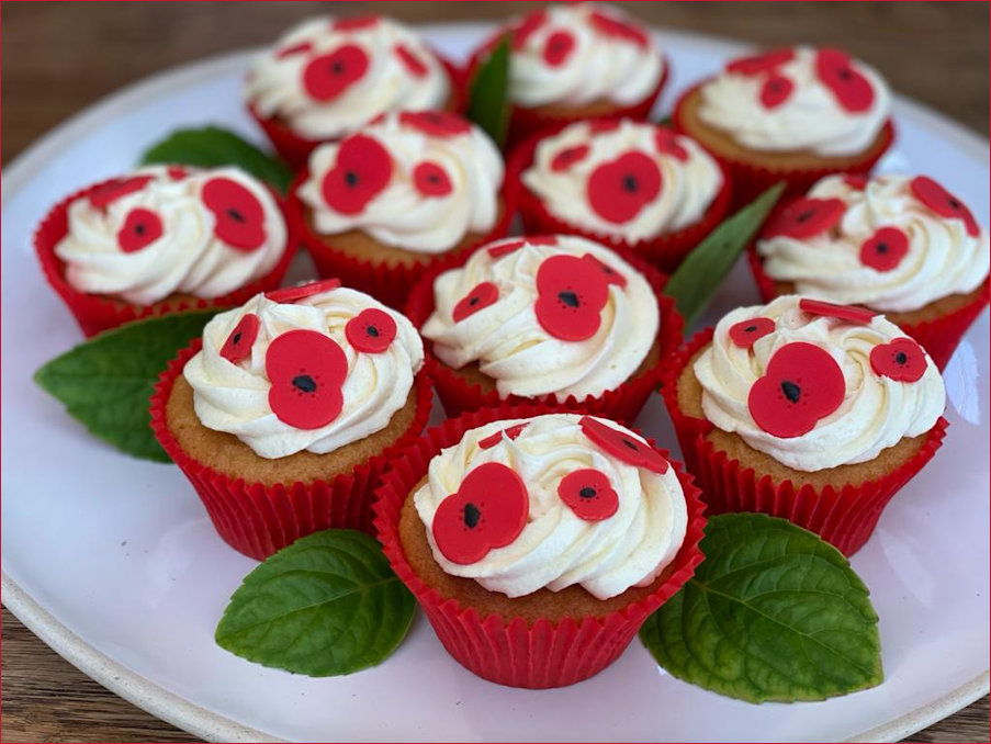 Poppy Cupcakes made by the Cambridges and their children