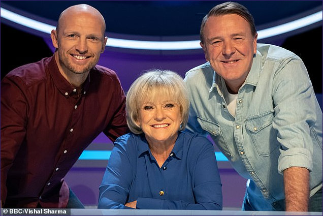 Sue Barker with Question of Sport Team