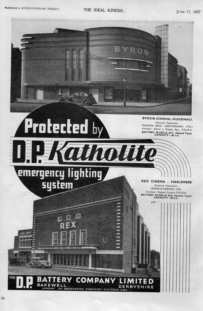 Advert for Katholite featuring Byron Cinema Hucknall