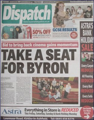 Front page news Hucknall Dispatch