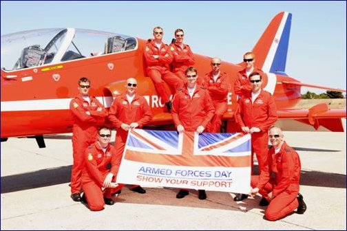 Armed Forces Day Red Arrows