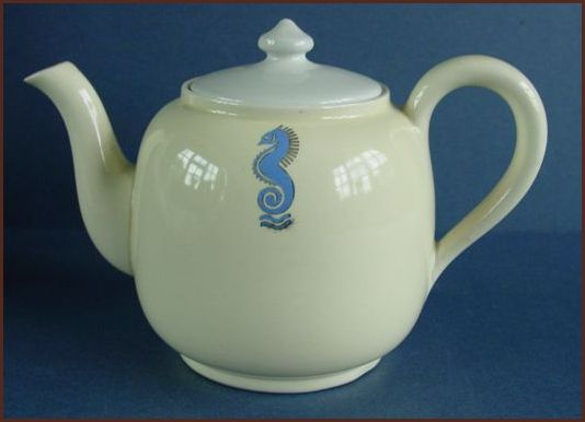 Caouldon Teapot with Midland seahorse motif