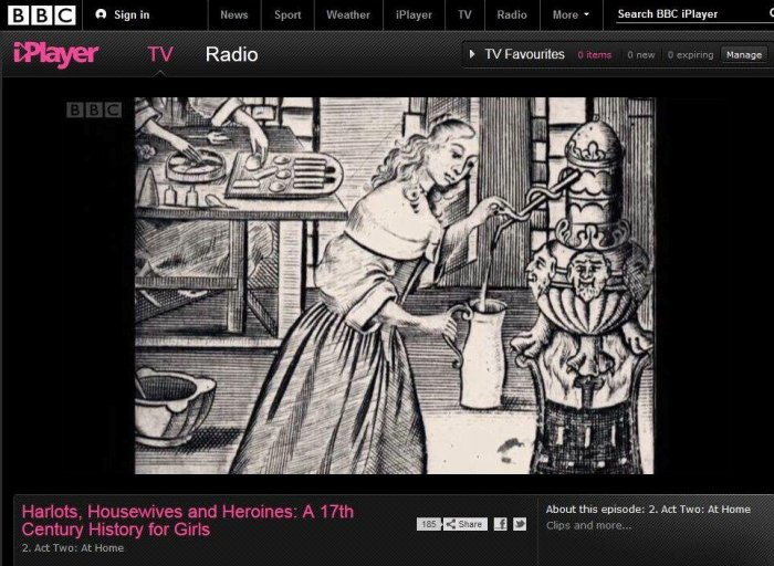 iPlayer Harlots, Housewives and Heroines