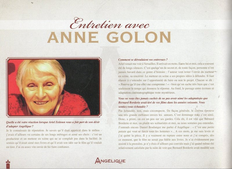Press Pack Interview with Anne Golon