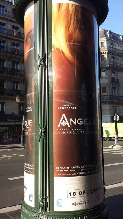 Advertising Post Paris near the Opera
