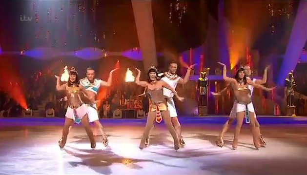 Team Hayley Dancing on Ice Walk like an Egyptian
