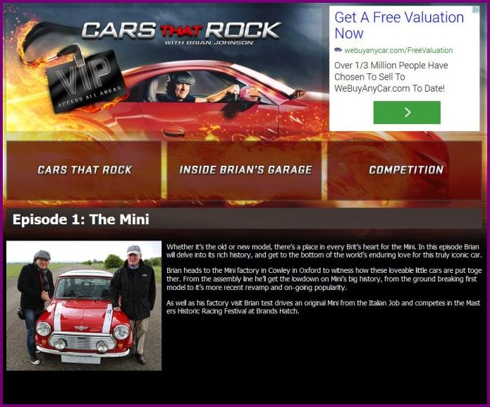 Cars that Rock tv programme