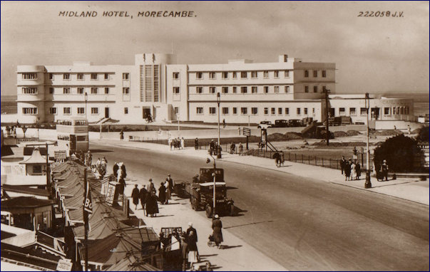 The New Midland Hotel approach from the promenade