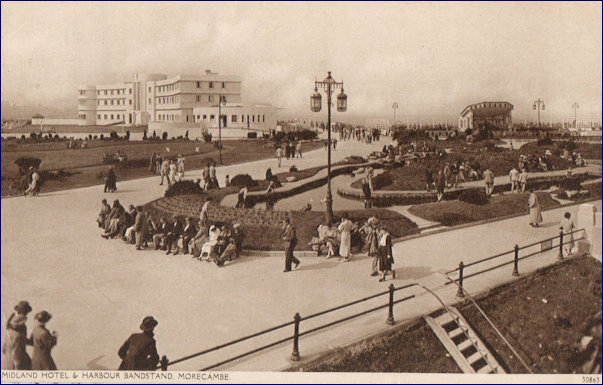 Midland Hotel, bandstand and public gardens