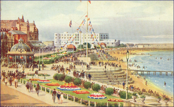 Painted image of the Midland Hotel from the Promenade