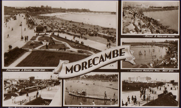 Multiview postcard of Morecambe