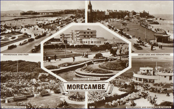 Multi-view postcard of Morecambe