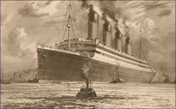 RMS Olympic postcard